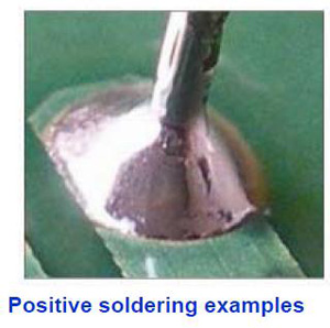Positive soldering examples