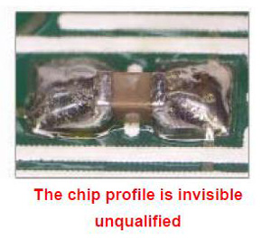 The chip profile is invisible unqualified