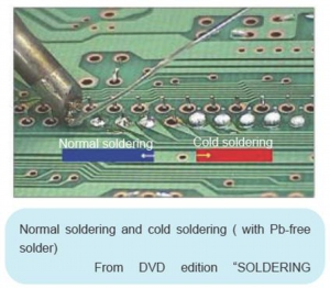 Normal soldering and cold soldering