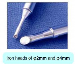 Iron heads of φ2mm and φ4mm